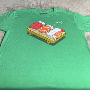 2f5aa3c9 Threadless Shirts   Anime Sushi Naps Green Tshirt Size Xl   Poshmark